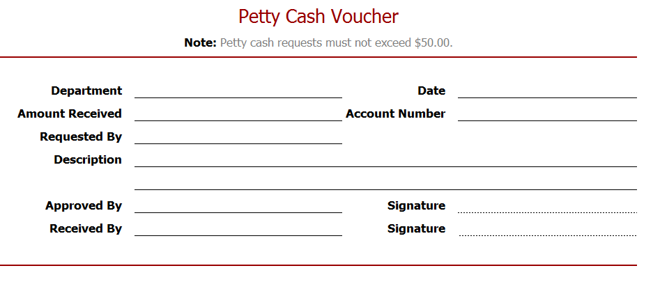 Here Is Preview Of This Petty Cash Voucher Template,  Example Of Petty Cash Voucher