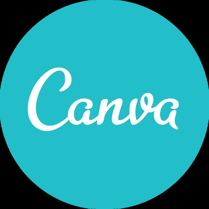 canva logo blue